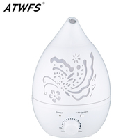 ATWFS Air Humidifier Aroma Essential Oil Diffuser 7 Color LED with Carve Mist Maker for Home Office Fogger Baby Room Aromatherap
