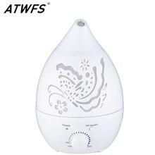 ATWFS hava nemlendirici aromalı uçucu yağ difüzörü 7 renk LED ile Carve Mist Maker ev ofis sisleyici bebek odası aromaterapi