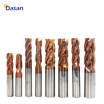 цена на 1pc Carbide Mill Cutter 1mm 2mm 4mm 5mm 6mm 8mm 10mm 12mm 4Flute HRC60 Tungsten Steel End Mills Router Bits cnc Milling Tools