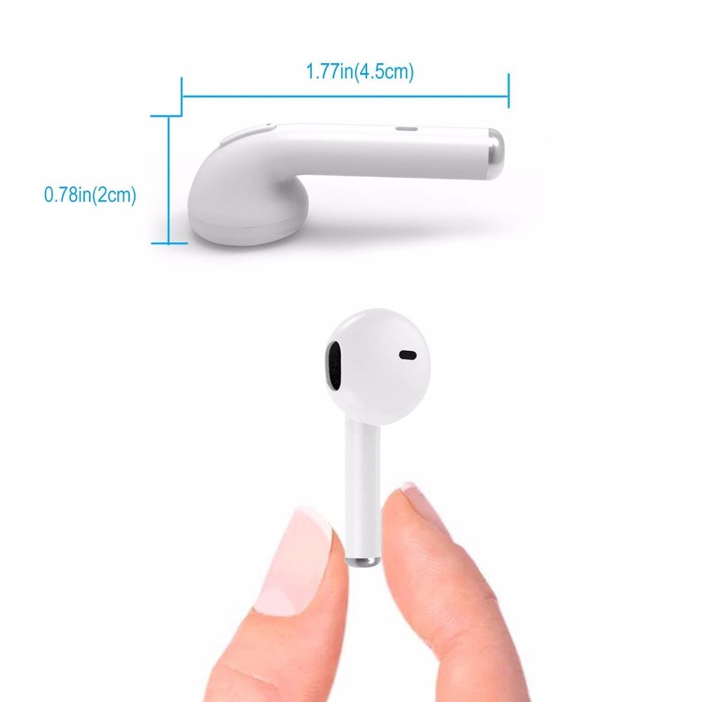 Mini Handsfree Bluetooth Earbud Wireless Earphone Earpiece Stereo Music Earphone i7 for Smart Phone xiaomi huawei Andriod IOS in Bluetooth Earphones Headphones from Consumer Electronics