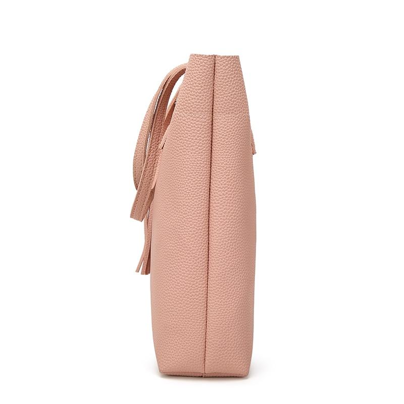 DAUNAVIA Luxury Brand Tassel Bucket Bag Naiste pehme nahast käekott - Käekotid - Foto 4