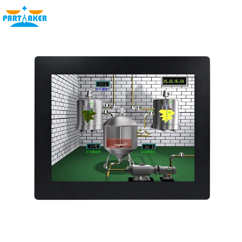 Z16T 19 Inch Fanless Intel Celeron J1800 Industrial Panel PC With Taiwan High Temperature 5 Wire Touch Screen 4G RAM 64G SSD