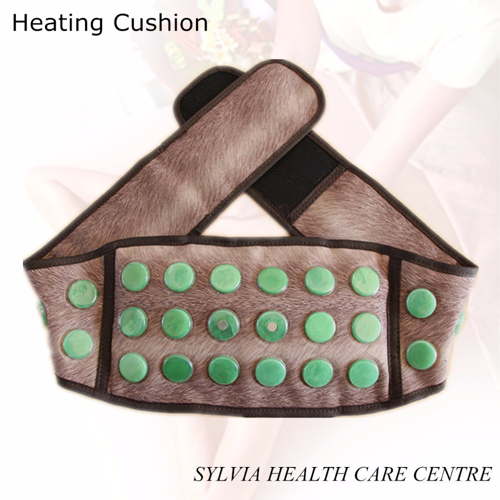 Chinese Jade Far Infrared Belt Heating Health Care Belt jade heating belt jade stone health heating massage waist support belt far infrared stone tourmaline belt jade stone waist belts thermal heating therapy massager