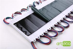 Image 2 - 100 יח\חבילה DC12V 5050 3 נוריות LED מודול 5050 RGB LED מודול אור RGB IP65 עמיד למים