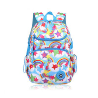 Women Rainbow Bag Shoulder School Backpacks For Girls Cute Pink Schoolbags Orthopedic Student Bag Kids Travel