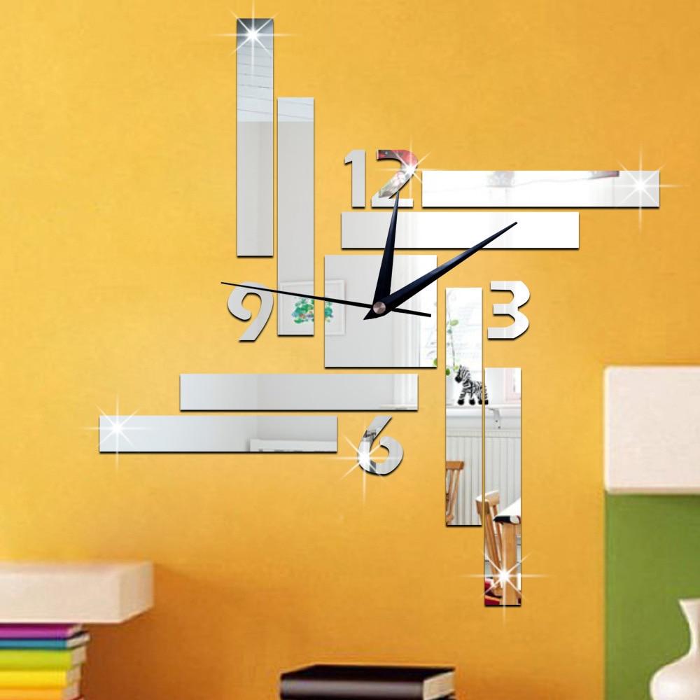 TUDA environmental mirror clock, restaurant, wall clock, stripe box ...