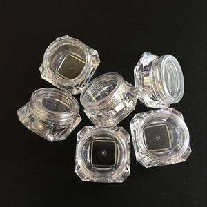 Image 4 - 100 pçs/lote 5g frascos de plástico transparente frascos creme forma diamante amostra garrafa 5ml 0.17oz garrafas vazias cosméticos recipiente bot01