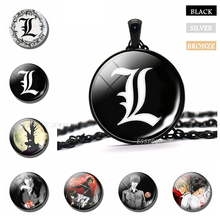 Death Note L Necklace Anime Glass Cabochon Jewelry Yagami Light Cosplay Pendant Handcraft Gifts Dropshipping