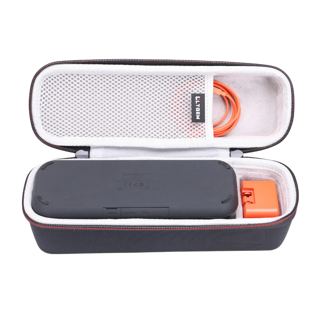 LTGEM EVA Hard Case For Anker SoundCore Pro+ 25W Bluetooth Speaker - Travel Protective Carrying Storage Bag