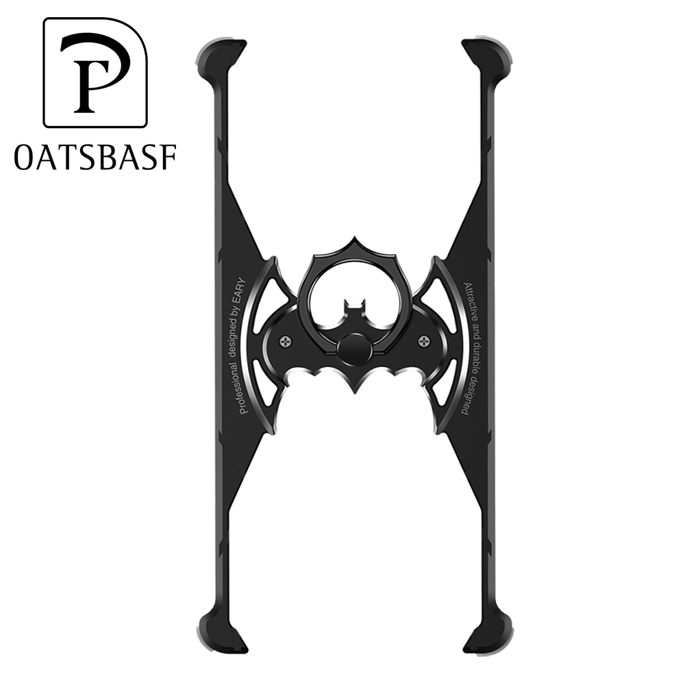 PADCOVER Bat Ring holder Shape Metal Airbag Case for iPhone XR XS X XS Max Case with ring holder Shell Metal Bumper Cover