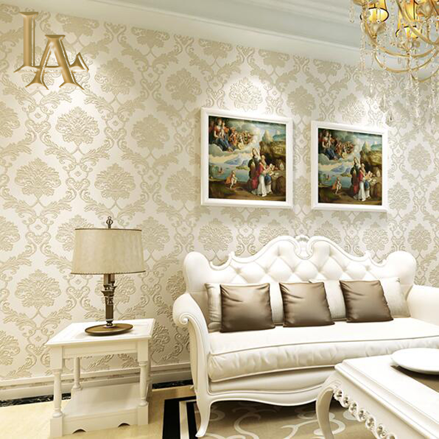 Online kopen Wholesale bruin blauw behang uit China bruin blauw ...