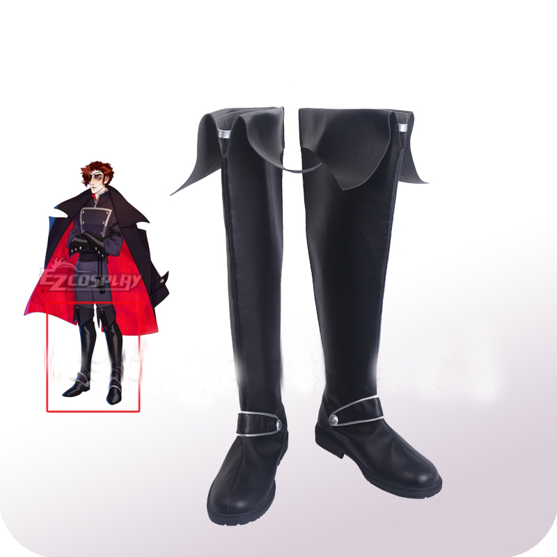 Game The Arcana Julian Military Cosplay Shoes Boots Halloween Carnival Party Costume Accessories