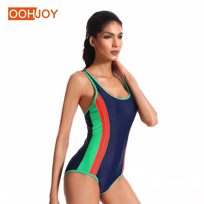 eca0ab463b 2018 New Sports Monokini Women Gym One Piece Suit Workout Bathing Suit  38-46 Hit Color Swimsuit Fitness Swimwear Girl Bikini Set - aliexpress.com  - imall. ...