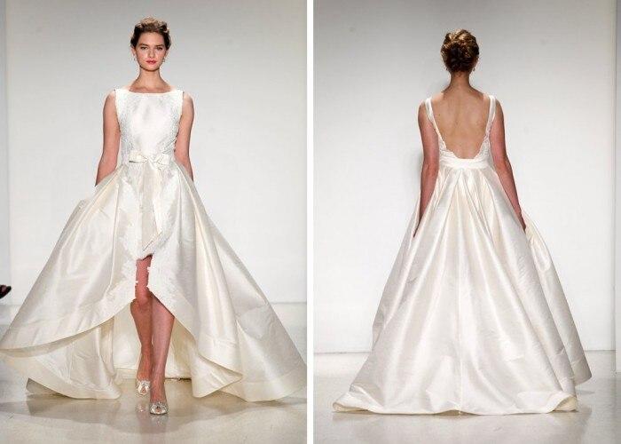 Wedding Dress Short Front Long Back White