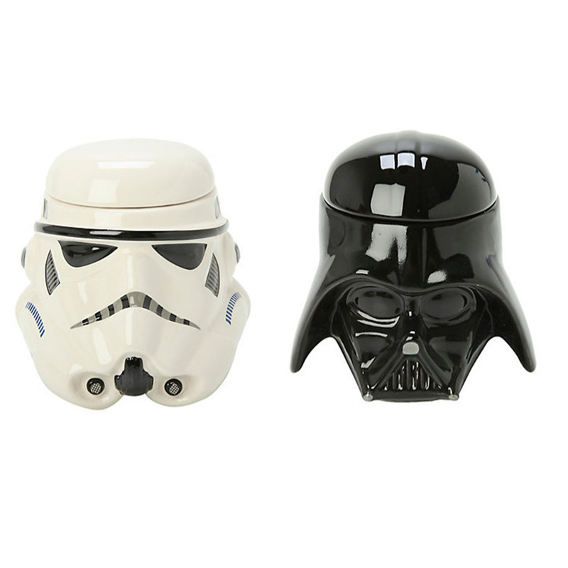 1PCS Personality Star Wars 3D Mug Cup Black Darth Vader Stormtrooper Iron Man Mug Creative Cups