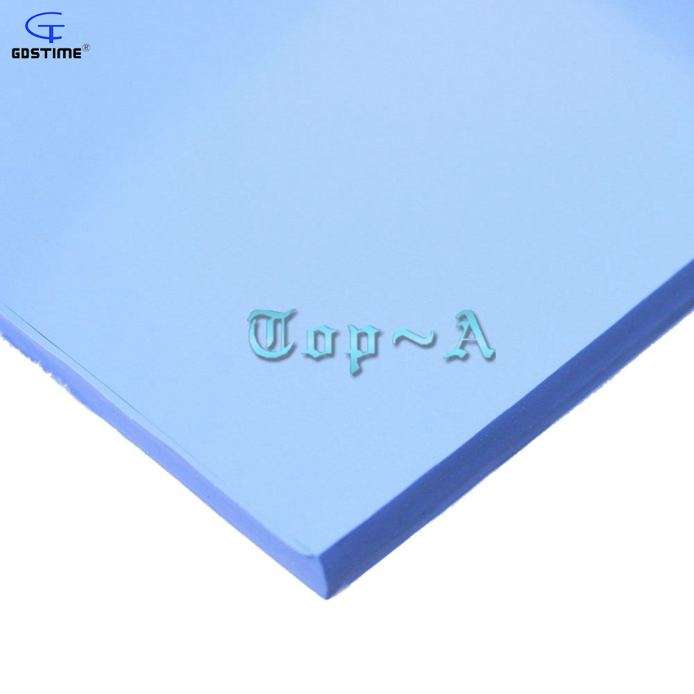 Gdstime 2 Pcs 100mm * 100mm * 5mm Blue IC Chip Conduction Heatsink Thermal Pad Compounds Silicone Pads 100 100 4 5mm soft silicone thermal pad thermal pads for heatsink chipset led gap insulation sealing lower vibration