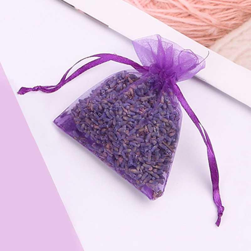 Sacos Saquinhos De Flor de Lavanda Natural Sachê Saco Aromaterapia Roupeiro Armário Gaveta Cesta Quarto Refrescar Perfume de Ar Aromático