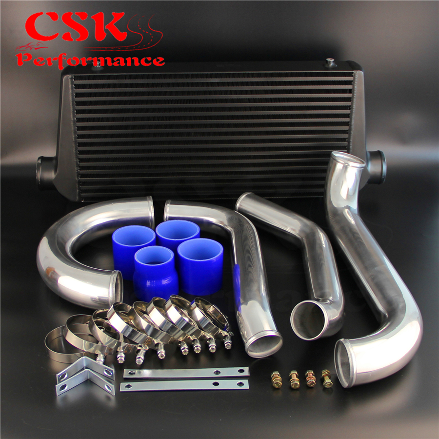 Bolt On FMIC Intercooler Kit Fits For 93 98 Toyota Supra JZA80 Turbo 2JZGTE 2JZ Blue / Black / Red