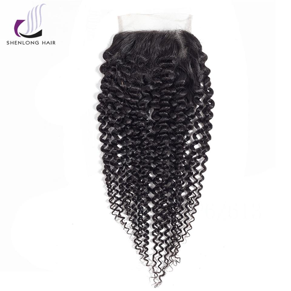 SHENLONGHAI Βραζιλιάνικο Kinky Curly μαλλιά Lace - Ανθρώπινα μαλλιά (για μαύρο) - Φωτογραφία 3