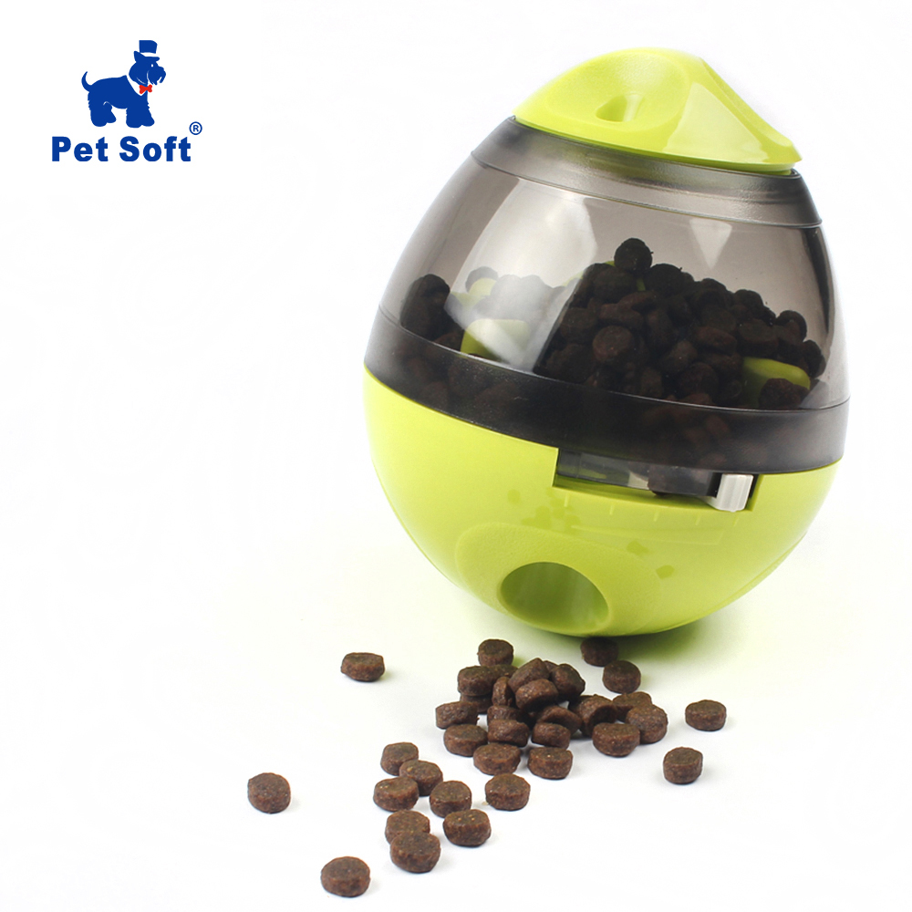 Pet Soft Pet Dog Toys Tumbler Leakage Ball Bite Interactive Toy Dog Treat Dispenser Ball Toy Removable Dog Chewing Products