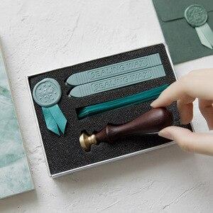 Image 3 - Retro luksusowa kreatywność farba wosk zestaw DIY Handmade wstążka etykieta śliczne koperty znaczki pieczęć na zaproszenie na ślub prezent dekoracji