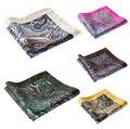 Pañuelo 100% de satén de seda Natural para hombre del pañuelo de moda banquete de boda Classic Pocket Square # n23