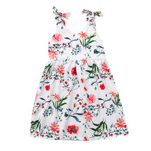 Mother and Toddler Girl Matching White Floral Dress