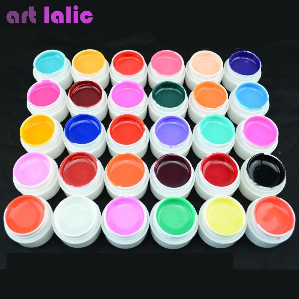1 Pc 4ml UV Gel Pure Colors UV Long Lasting Gel Nail Extension Manicure LED UV Lamp Gel Solid Cover Nail Art Gel Varnish