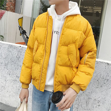 Men Women Black Yellow White Winter Fashion Casual Thick Parkas Jacket Male Cotton Padded Coat Lovers Warm Overcoat
