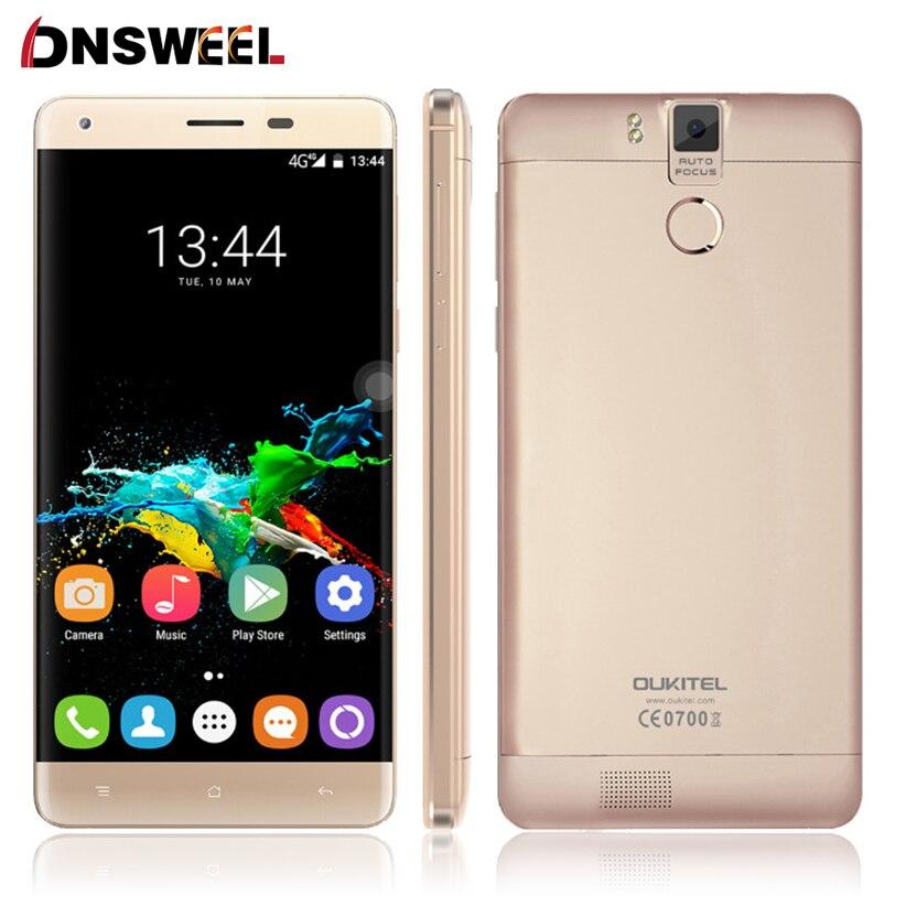 Galleria fotografica Oukitel K6000 Pro 4G Mobile Téléphone 5.5 pouce FHD MTK6753 Octa Core Android 6.0 3 GB RAM 32 GB ROM 13MP Cam D'empreintes Digitales ID Smartphone