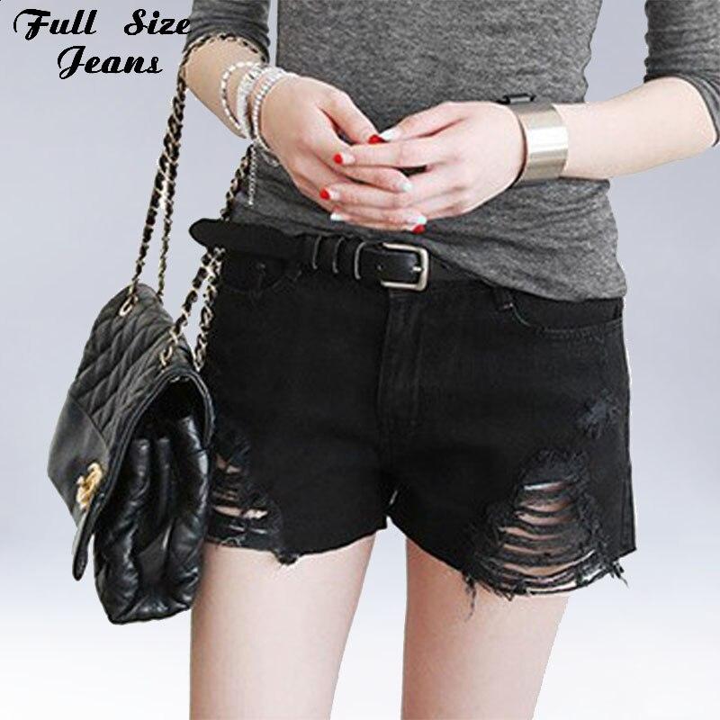 Plus Size Black Denim Shorts 4Xl Xl 5Xl Sexy Women Summer ...
