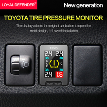 Buy OBD TPMS for toyota IZOA/CHR Tire Pressure real-time Monitoring System no tire removal security alarm car modification directly from merchant!