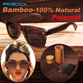 100% настоящее топ бамбука деревянный солнцезащитные очки поляризованные ручной древесины мужские солнцезащитные очки мужчины Gafas óculos De Sol мадера