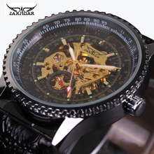 Vintage Mechanical Watch Military Skeleton Watches Fashion Automatic Self Wind Wristwatches Men Watch font b JARAGAR