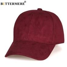 BUTTERMERE Burgundy Baseball Cap Women Suede Casual Snapback Hats Men Solid Adjustable Duckbill Caps Uv Autumn Sun Hat