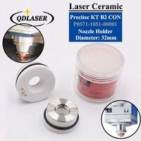 Laser Ceramic Dia.32mm/28.5mm OEM Precitec Lasermech KT B2 CON P0571 1051 00001 Nozzle Holder For Fiber Laser Cutting Head