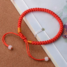 2018 New Fashion 1Pcs 8cm Classic Red String Bracelet Lucky Chinese Red Rope String Wrap Bracelet Good Luck For Women Gifts(China)