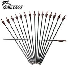 цена на Archery Fiberglass Arrows 12pcs Spine 500 Glassfiber Arrow With 100 Grain Arrowhead  Hunting Shooting Archery Accessories