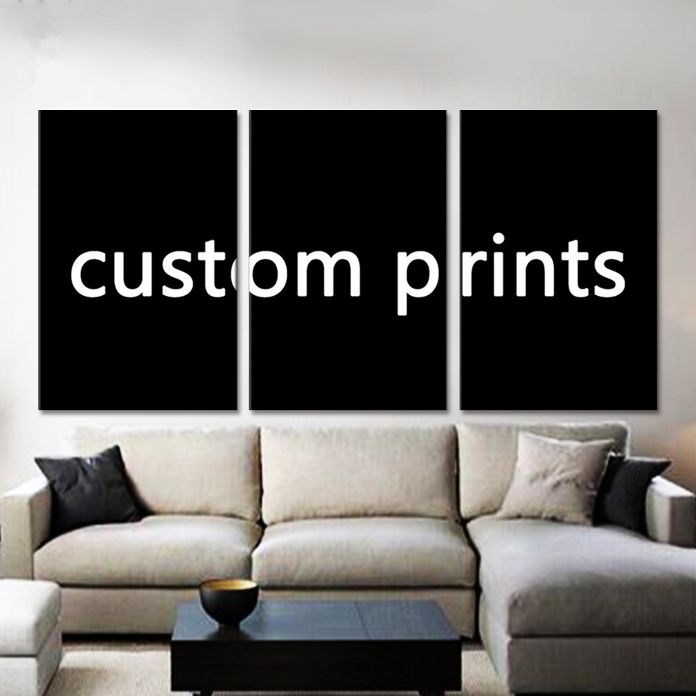 Drop Shipping Custom Made Canvas Wall Art Picture Framework 3 Pieces Customized Painting Modern Living Room Decorative PENGDA