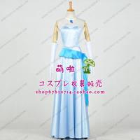 Dla kobiet Sukienka Księżniczka i Żaba Dorosłych Księżniczka Tiana Cosplay Strój niebieski