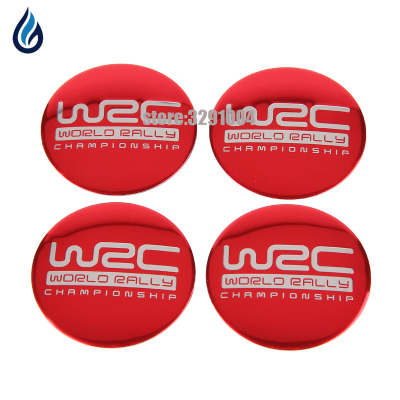 56.5mm WRC Letter Car Wheel Center Hub Caps Emblem Sticker for MINI Cooper audi ford Mazda Jeep Renault kia Vw Opel Nissan Decal