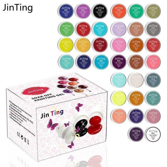 Jinting 30pcs LED/UV painting gel 5 ml Pure Color Solid For Nail Design Builder Set  paint varnish