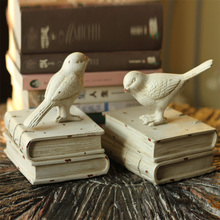 USA country retro resin decoration furnishings Home Furnishing jewelry Kaina sparrow adorable Bookends Bookends rin sparrow bookends