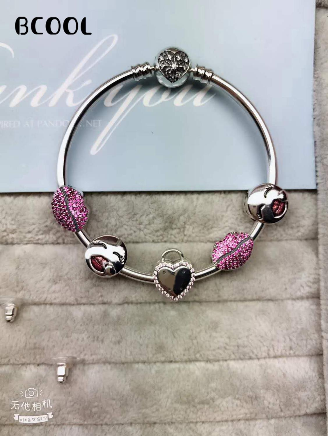 925 Sterling Silver Original 1:1, Fashionable Silver Charm Bracelet, Suitable For Womens Simple Crystal Beads Bracelet Jewelry925 Sterling Silver Original 1:1, Fashionable Silver Charm Bracelet, Suitable For Womens Simple Crystal Beads Bracelet Jewelry