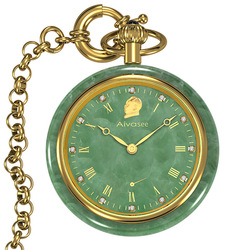 New Fashion Mechanical Jade Pocket Men Watch Authentic Brand  Pocket Watches Top Luxury Classical Style Popular Jade Male Clock