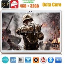 Envío libre 10 pulgadas tablet pc octa core GPS para Android 5.1 4 GB/32 gb de Doble Cámara de 5.0MP 1280*800 IPS Pantalla MID 4G LTE Phablet
