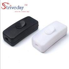 10 шт./пакет высокое качество черный, белый цвет 303 переключатель наполовину рокер кнопочный переключатель кулисный переключатель настольная лампа онлайн-переключатель