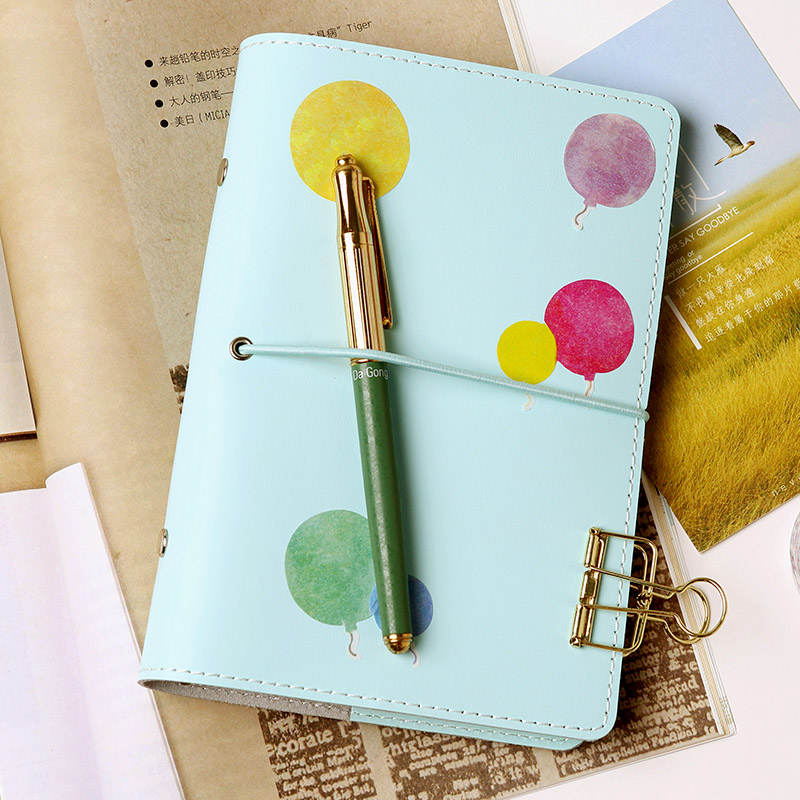 A6 A7 Cute Creative Notebook Planner Cute Spiral Binder Planner 6 Hole Loose Leaf Notepad Elastic Diary Agenda Organizer a5 a6 vintage loose leaf refillable wool felt spiral weekly planner notebook filofax memo travel journal diary notepad