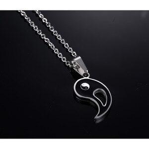 Ожерелье с подвеской-кулоном ZORCVENS, восемь схем, Yin Yang, черно-белые, лучшие друзья, пары, подарок на день Святого Валентина