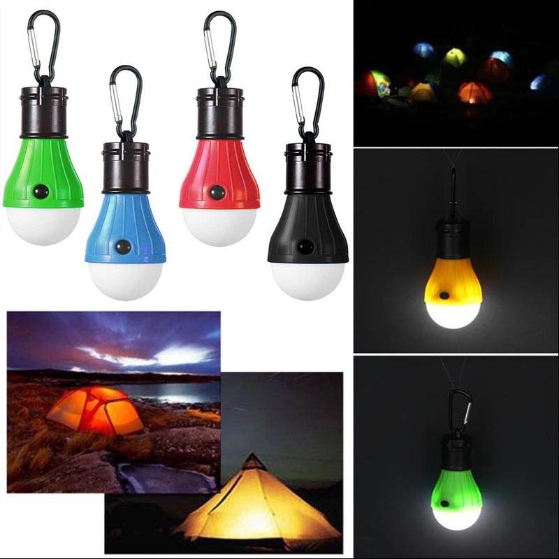 Portable Outdoor Indoor Light 3 LED Light Lantern Waterproof Tent Light Hiking Fishing Emergency Lamp Use 3*AAA Battery